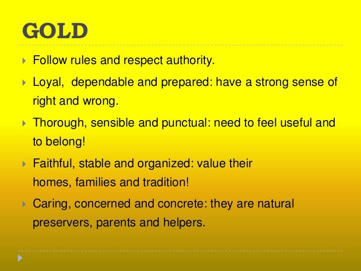Gold color psychology
