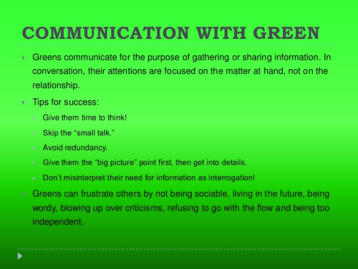 Green Room Color Meaning
