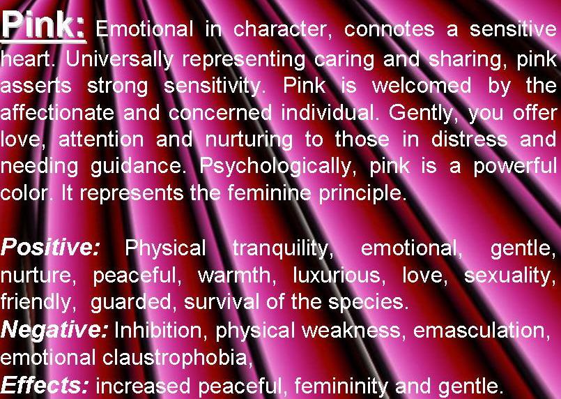 pink color psychology
