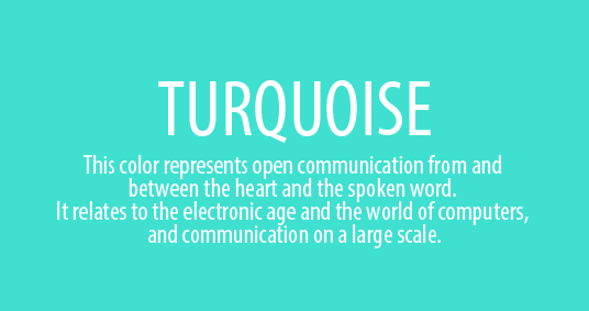turquoise Color psychology and meaning